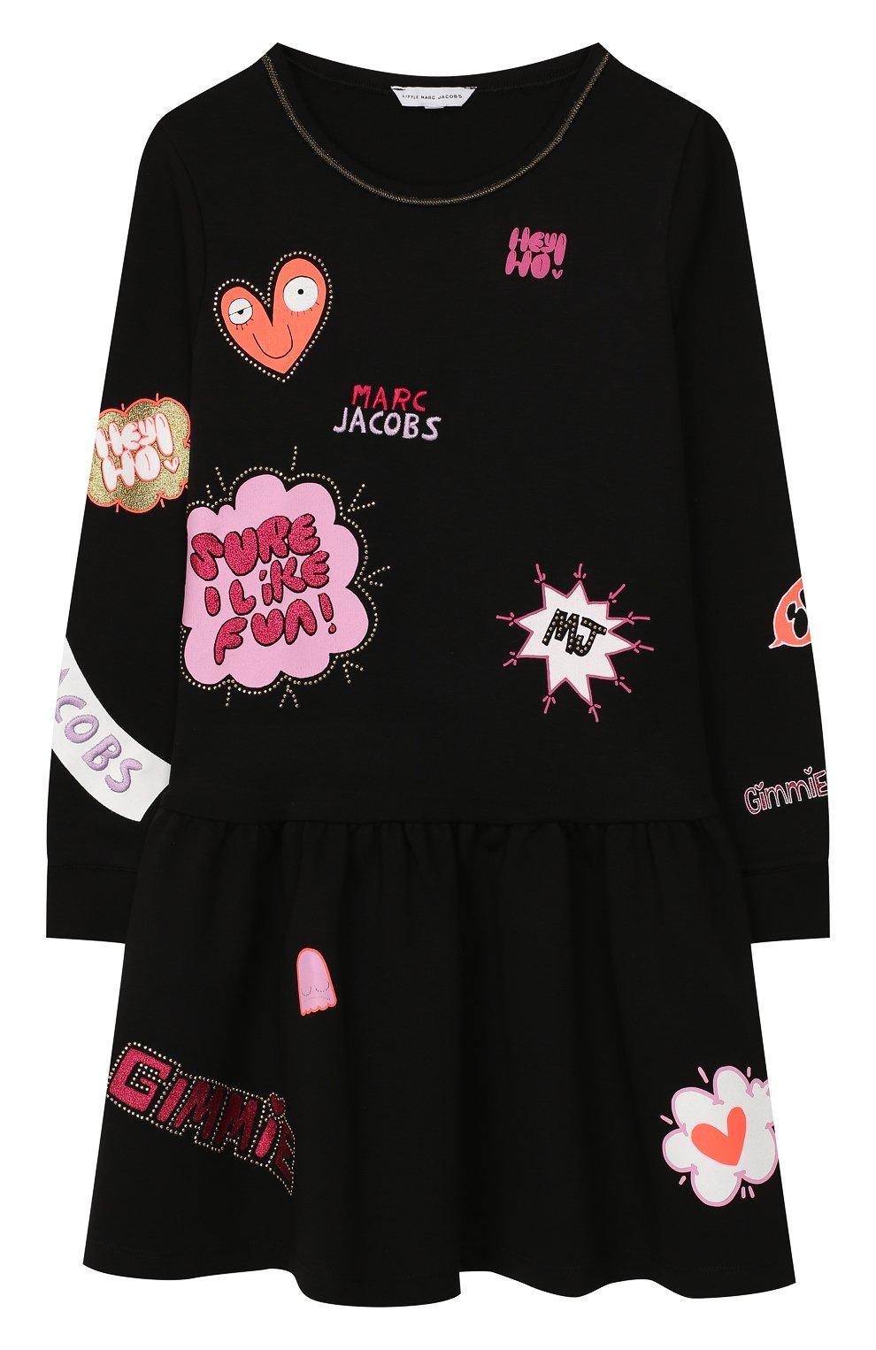 Детское платье MARC JACOBS (THE) черного цвета, арт. W12293   Фото 1