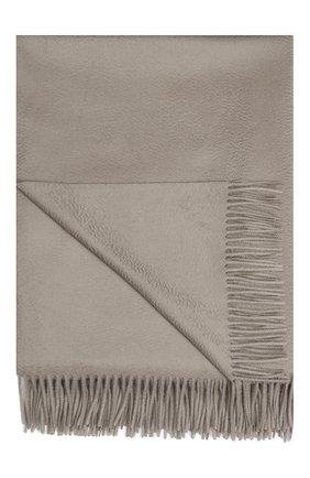 Мужского кашемировый плед LORO PIANA светло-серого цвета, арт. FAA1158 | Фото 1