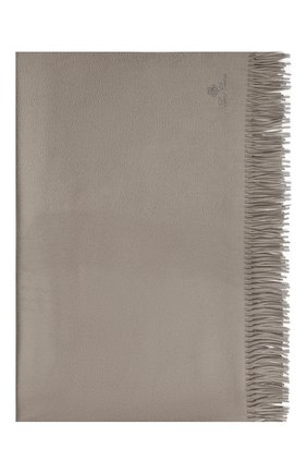 Мужского кашемировый плед LORO PIANA светло-серого цвета, арт. FAA1158 | Фото 3