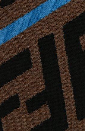 Детский хлопковый шарф FENDI голубого цвета, арт. JUQ001/A2M4 | Фото 2