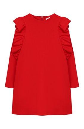 Детское платье из вискозы IL GUFO красного цвета, арт. A19VL344M0041/2А-4А | Фото 1