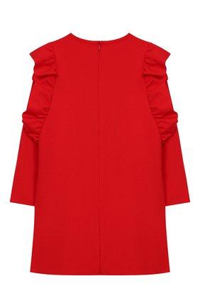 Детское платье из вискозы IL GUFO красного цвета, арт. A19VL344M0041/2А-4А | Фото 2