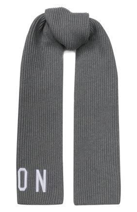 Детский шарф из шерсти и хлопка DSQUARED2 серого цвета, арт. DQ03U4-D00WC | Фото 1
