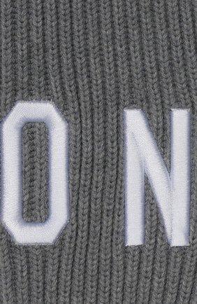 Детский шарф из шерсти и хлопка DSQUARED2 серого цвета, арт. DQ03U4-D00WC | Фото 2