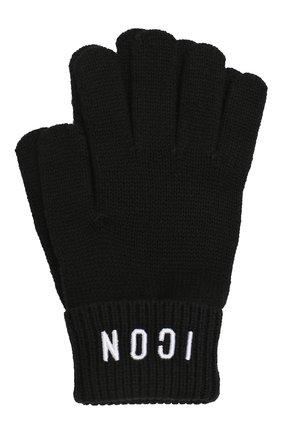 Детские перчатки из шерсти и хлопка DSQUARED2 черного цвета, арт. DQ03PT-D00WC | Фото 1