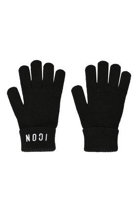 Детские перчатки из шерсти и хлопка DSQUARED2 черного цвета, арт. DQ03PT-D00WC | Фото 2