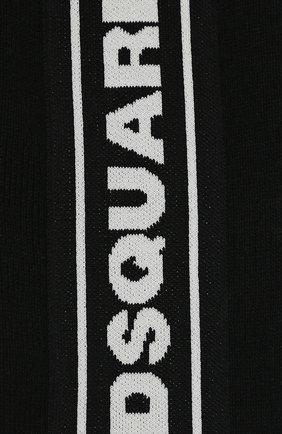 Детский шарф DSQUARED2 черного цвета, арт. DQ03PN-D00WD | Фото 2