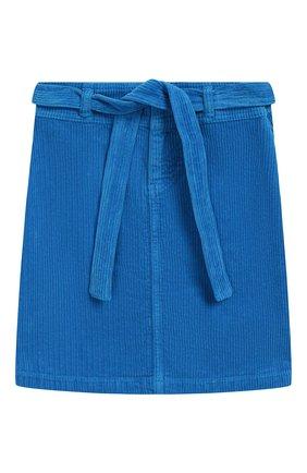Детская вельветовая юбка с поясом INDEE голубого цвета, арт. FIRE/H0RIZ0N/12Y-18Y | Фото 1
