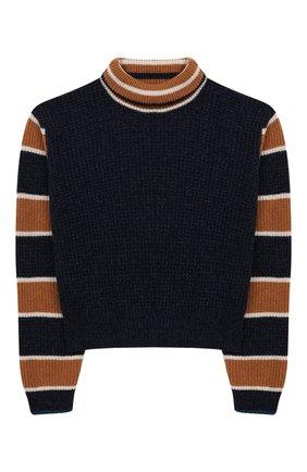 Детский укороченный свитер из шерсти INDEE синего цвета, арт. FERRY/MAJ0R/12Y-18Y | Фото 1
