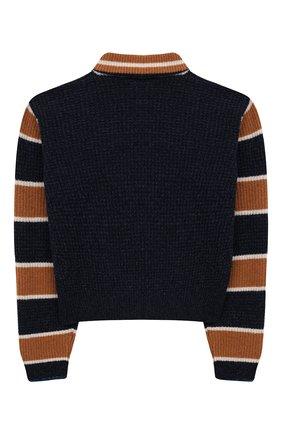 Детский укороченный свитер из шерсти INDEE синего цвета, арт. FERRY/MAJ0R/12Y-18Y | Фото 2