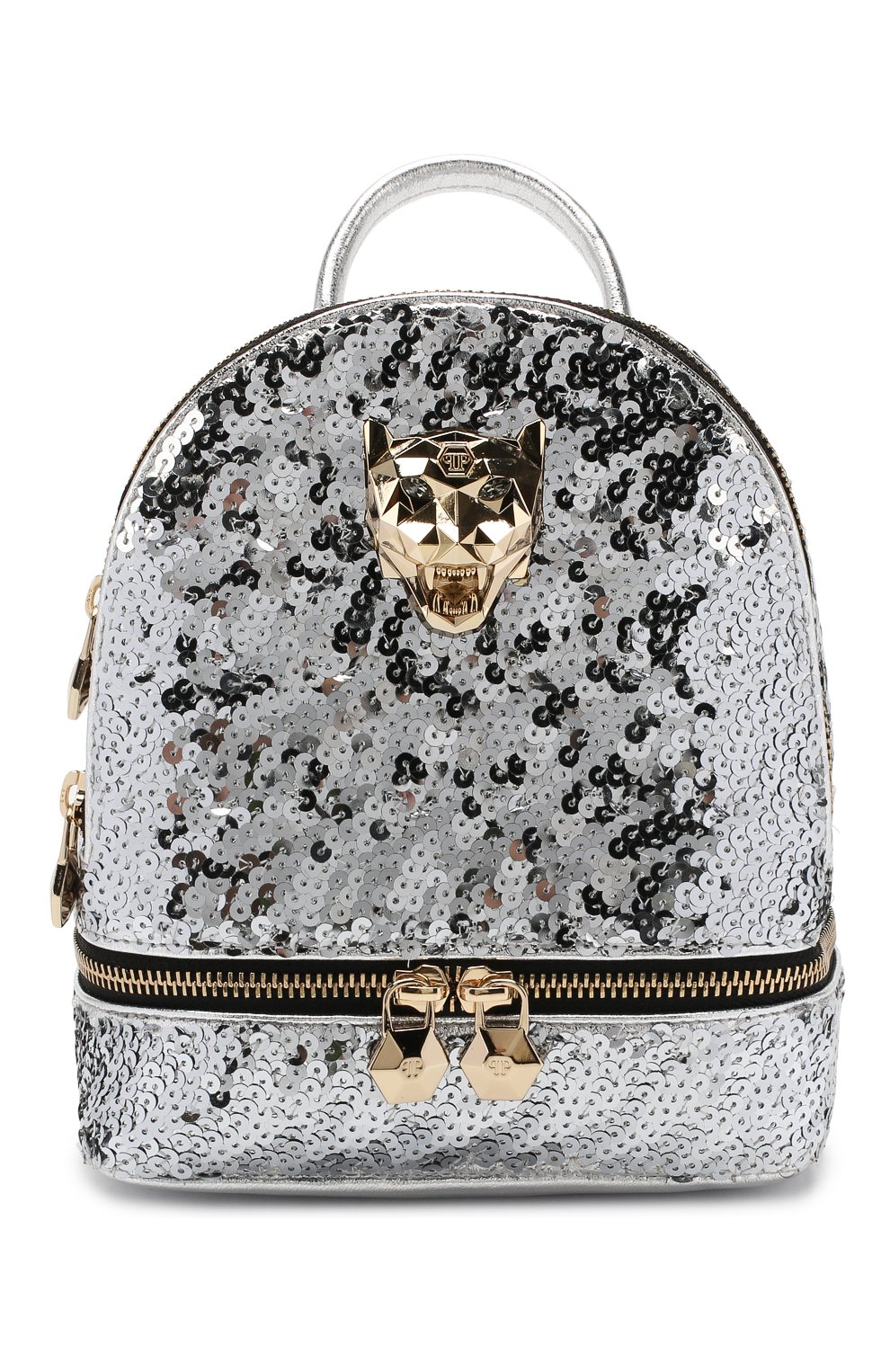 Женский рюкзак PHILIPP PLEIN серебряного цвета, арт. WBA0992 | Фото 1