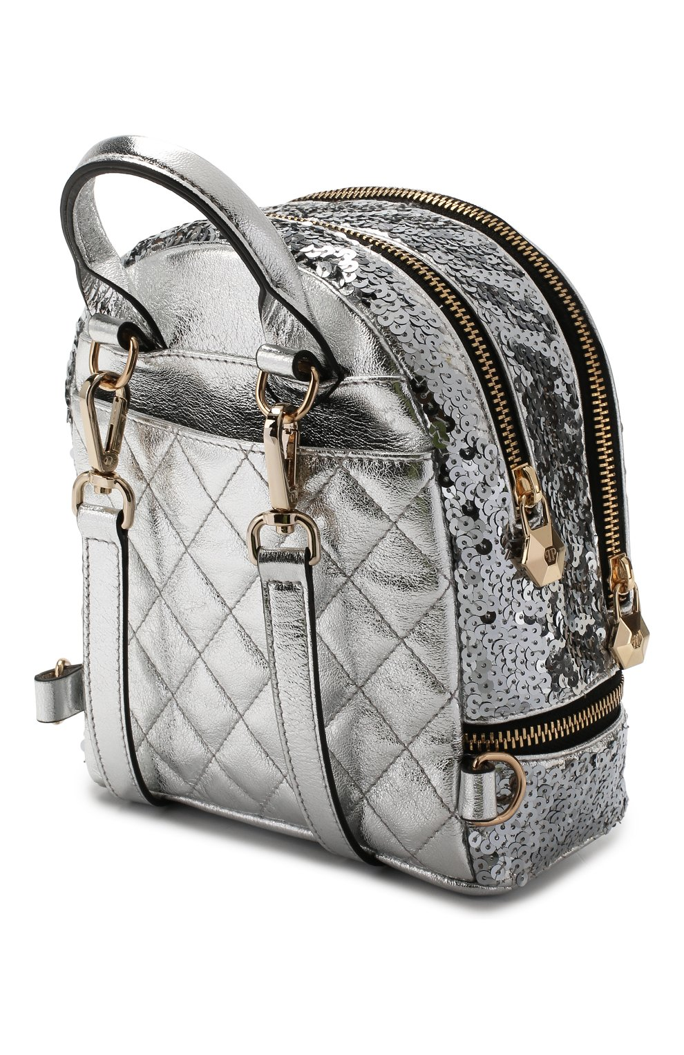 Женский рюкзак PHILIPP PLEIN серебряного цвета, арт. WBA0992 | Фото 3