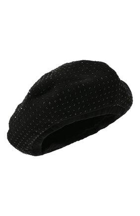 Женский кожаный берет SAINT LAURENT черного цвета, арт. 580355/3YE48 | Фото 1