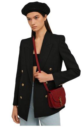 Женский кожаный берет SAINT LAURENT черного цвета, арт. 580355/3YE48 | Фото 2