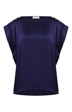 Женская шелковый топ LUNA DI SETA темно-синего цвета, арт. L6T1070_9217 | Фото 1