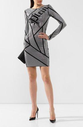 Женское платье из вискозы PHILIPP PLEIN черного цвета, арт. WRG1158 | Фото 2