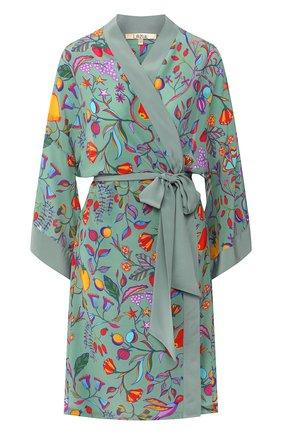 Женский шелковый халат LAZUL разноцветного цвета, арт. N0N0 R0BE/LIPARI | Фото 1