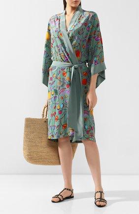 Женский шелковый халат LAZUL разноцветного цвета, арт. N0N0 R0BE/LIPARI | Фото 2