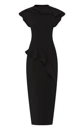 Женское платье-макси RICK OWENS черного цвета, арт. R019F5686/KST   Фото 1