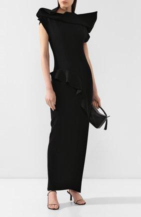 Женское платье-макси RICK OWENS черного цвета, арт. R019F5686/KST   Фото 2
