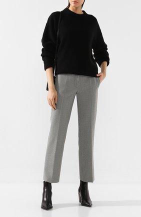 Женские брюки ALEXANDER WANG черно-белого цвета, арт. 1WC2194166 | Фото 2