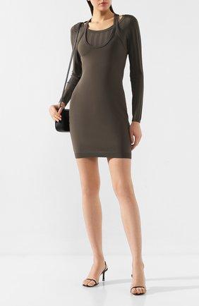 Женское платье ALEXANDERWANG.T хаки цвета, арт. 4KC2196001 | Фото 2