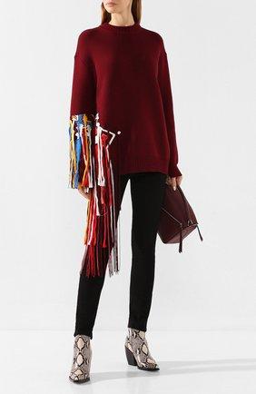 Женская шерстяной свитер OSCAR DE LA RENTA красного цвета, арт. 19FE1439SWS | Фото 2