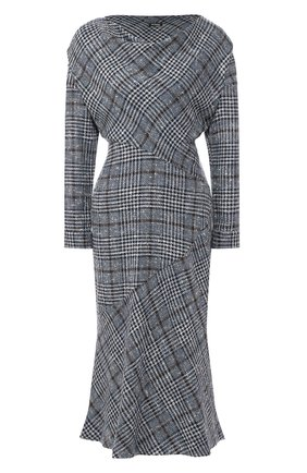 Женское платье из смеси кашемира и шелка KITON голубого цвета, арт. D48334K01S58 | Фото 1