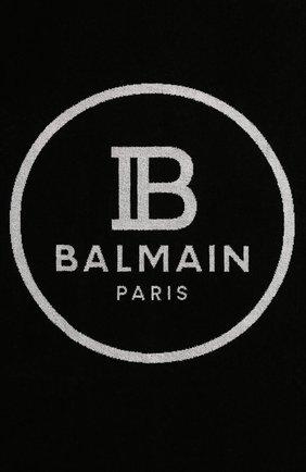 Женское хлопковое полотенце BALMAIN черного цвета, арт. BPP000120 | Фото 2
