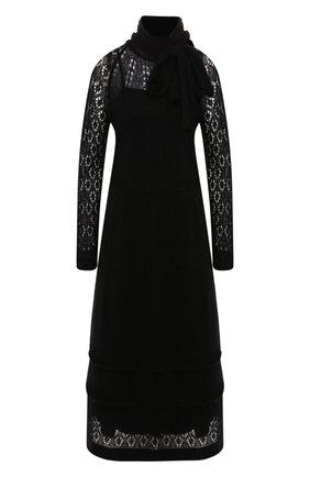 Женское платье-миди REDVALENTINO черного цвета, арт. SR0KDA83/4M3 | Фото 1