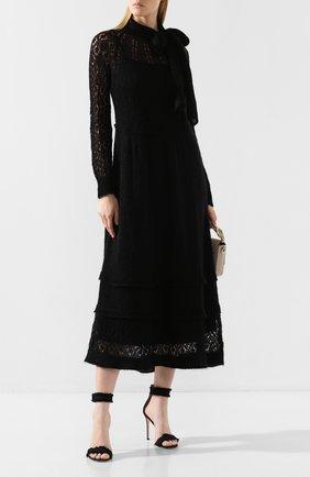 Женское платье-миди REDVALENTINO черного цвета, арт. SR0KDA83/4M3 | Фото 2