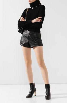 Женские кожаные ботильоны minori 85 JIMMY CHOO черного цвета, арт. MIN0RI 85/CLF | Фото 2