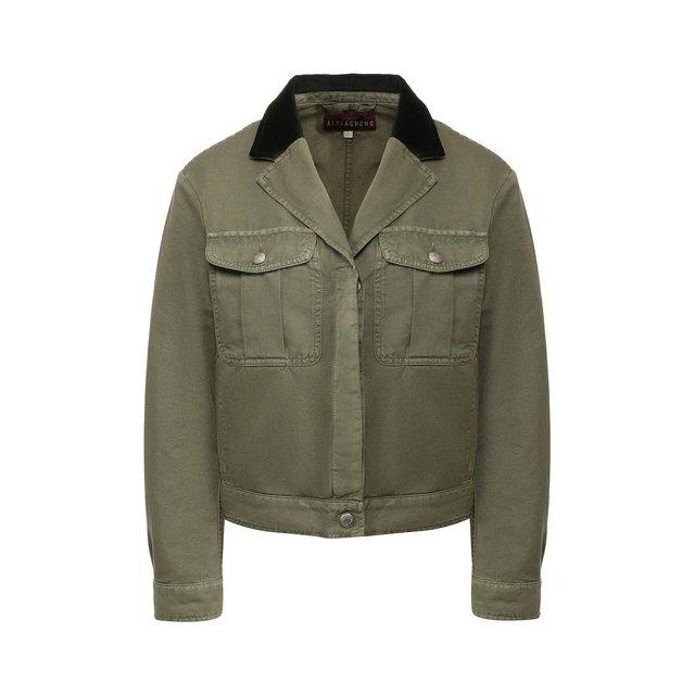 Куртка из смеси хлопка и льна Alexachung.