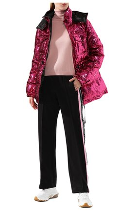 Женская водолазка из смеси шерсти и шелка REDVALENTINO светло-розового цвета, арт. SR0KC03R/4A7 | Фото 2