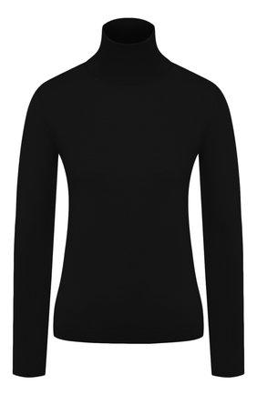 Женская водолазка из смеси шерсти и шелка REDVALENTINO черного цвета, арт. SR0KC03R/4A7 | Фото 1