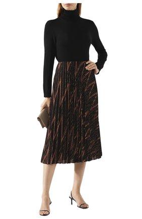 Женская водолазка из смеси шерсти и шелка REDVALENTINO черного цвета, арт. SR0KC03R/4A7 | Фото 2