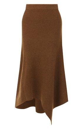 Женская юбка из смеси шерсти и кашемира PRINGLE OF SCOTLAND хаки цвета, арт. WSF060 | Фото 1