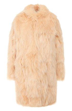 Женская шуба из меха лисы MATE OFFICIAL бежевого цвета, арт. 94MF030A-8992091 | Фото 1