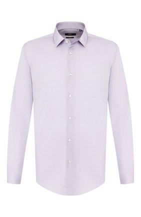 Мужская хлопковая сорочка BOSS сиреневого цвета, арт. 50410382 | Фото 1