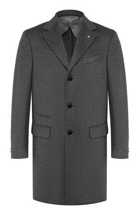 Мужской пальто из смеси шерсти и кашемира BILLIONAIRE серого цвета, арт. MRA0242 | Фото 1