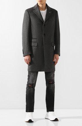 Мужской пальто из смеси шерсти и кашемира BILLIONAIRE серого цвета, арт. MRA0242 | Фото 2