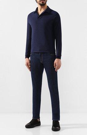Мужские джинсы BILLIONAIRE синего цвета, арт. MDT1803   Фото 2