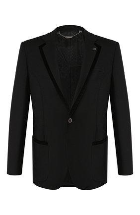 Мужской шерстяной пиджак BILLIONAIRE черного цвета, арт. MRF0952 | Фото 1
