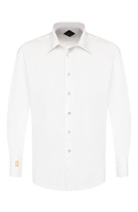 Мужская хлопковая сорочка BILLIONAIRE белого цвета, арт. MRP1046 | Фото 1