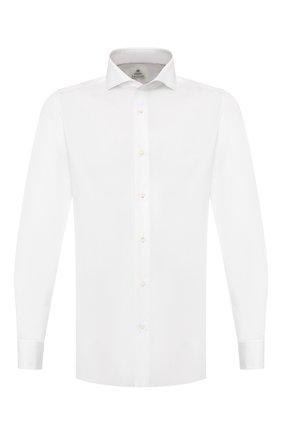 Мужская хлопковая сорочка LUIGI BORRELLI белого цвета, арт. EV08/FELICE DC/TS10605   Фото 1