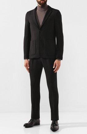 Мужской кожаные дерби ERMENEGILDO ZEGNA черного цвета, арт. A4273X-LHERA   Фото 2