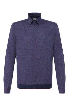 Мужская хлопковая рубашка ZILLI темно-синего цвета, арт. MFS-MERCU-64028/RJ01 | Фото 1