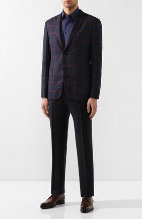 Мужская хлопковая рубашка ZILLI темно-синего цвета, арт. MFS-MERCU-64028/RJ01 | Фото 2