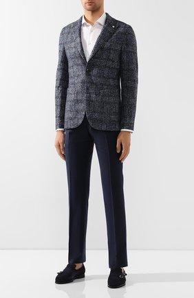 Мужской шерстяные брюки BERWICH синего цвета, арт. SC/1ALC/MZ1853X | Фото 2