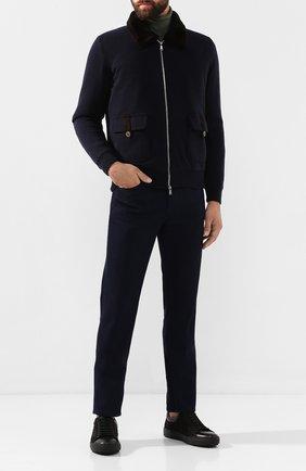Мужские кожаные кеды ZILLI черного цвета, арт. MDS-T064/002 | Фото 2